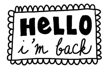 I'm Back…